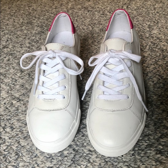 gap white leather sneakers